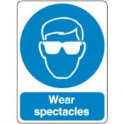 Mandatory Safety Sign - Wear Spectacles 193